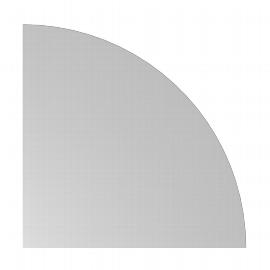 Hammerbacher Verkettungswinkel 90° gerundet XBE91 mit Konsole 80x80cm Ahorn/Graphit