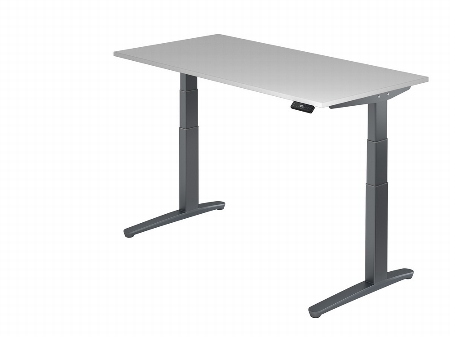 Hammerbacher Sitz-Steh-Schreibtisch XBHM16 elektrisch (BxT) 160x80cm Ahorn/GraphitPo