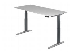 Hammerbacher Sitz-Steh-Schreibtisch XBHM19 elektrisch (BxT) 180x80cm Ahorn/GraphitPo