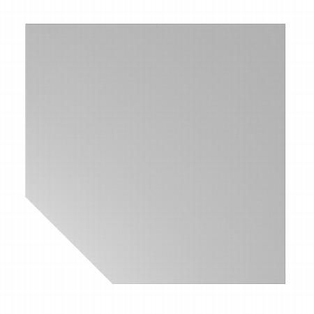 Hammerbacher Trapezplatte XBT12 120x120cm mit Konsole+Stützfuss Ahorn/Graphit