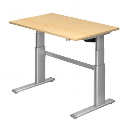 Hammerbacher Schreibtisch XD12 PREMIUMplus Steh-/Sitzarbeitsplatz (BxT) 120x80cm Elektroantrieb Arbeitshöhe 66-130cm Ahorn