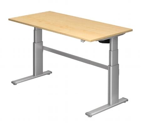 Hammerbacher Schreibtisch XD16 PREMIUMplus Steh-/Sitzarbeitsplatz (BxT) 160x80cm Elektroantrieb Arbeitshöhe 66-130cm Ahorn