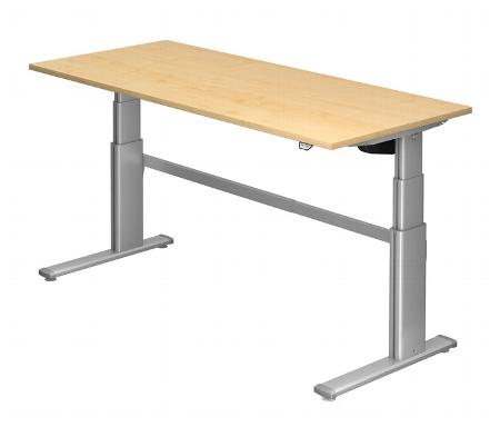 Hammerbacher Schreibtisch XD19 PREMIUMplus Steh-/Sitzarbeitsplatz (BxT) 180x80cm Elektroantrieb Arbeitshöhe 66-130cm Ahorn