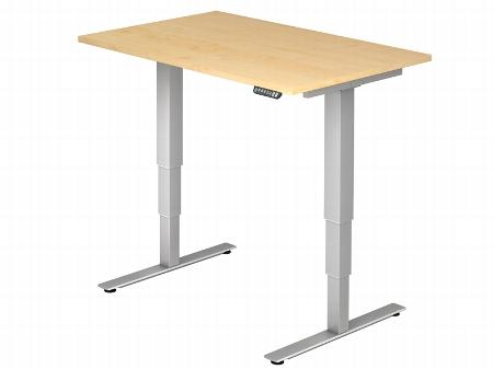 Hammerbacher Schreibtisch XDSM12 TRAVERSEless Steh-/Sitzarbeitsplatz (BxT) 120x80cm Memory 2-stufig höhenverstellbar von 63,5-128,5cm Ahorn