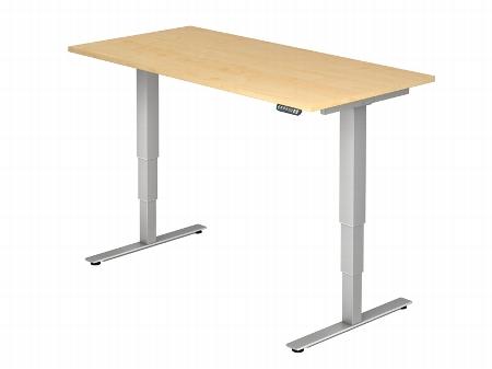 Hammerbacher Schreibtisch XDSM16 TRAVERSEless Steh-/Sitzarbeitsplatz (BxT) 160x80cm Memory 2-stufig höhenverstellbar von 63,5-128,5cm Ahorn