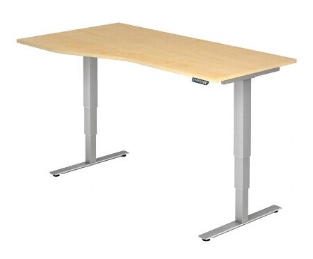 Hammerbacher Schreibtisch XDSM18 Freiform TRAVERSEless Steh-/Sitzarbeitsplatz (BxT) 180x100/80cm Memory 2-stufig höhenverstellbar von 63,5-128,5cm Ahorn
