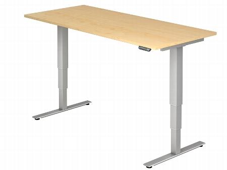 Hammerbacher Schreibtisch XDSM19 TRAVERSEless Steh-/Sitzarbeitsplatz (BxT) 180x80cm Memory 2-stufig höhenverstellbar von 63,5-128,5cm Ahorn