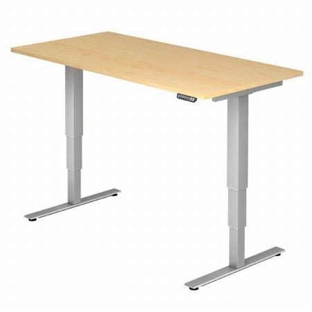 Hammerbacher Schreibtisch XDSM2E TRAVERSEless Steh-/Sitzarbeitsplatz (BxT) 200x100cm Memory 2-stufig höhenverstellbar von 63,5-128,5cm Ahorn