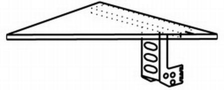 Hammerbacher Eckwinkel XE90 stumpf 90° +Konsole Tiefe 80x80cm Ahorn