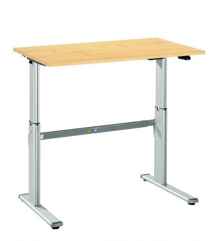 Hammerbacher Schreibtisch XM12 UNIVERSALplus Steh-/Sitzarbeitsplatz C-Fuß (BxT) 120x80cm Elektroantrieb Arbeitshöhe 72-119cm Ahorn