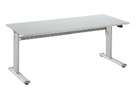 Hammerbacher Schreibtisch XM16 UNIVERSALplus Steh-/Sitzarbeitsplatz C-Fuß (BxT) 160x80cm Elektroantrieb Arbeitshöhe 72-119cm Ahorn