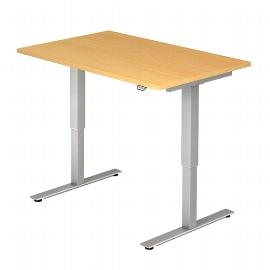 Hammerbacher Schreibtisch XMST16 TRAVERSEless Steh-/Sitzarbeitsplatz T-Fuß (BxT) 160x80cm Elektroantrieb 1-stufig Arbeitshöhe 72-119cm Ahorn