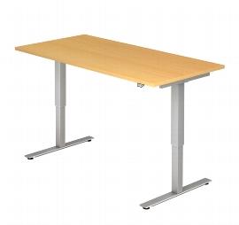 Hammerbacher Schreibtisch XMST12 TRAVERSEless Steh-/Sitzarbeitsplatz T-Fuß (BxT) 120x80cm Elektroantrieb 1-stufig Arbeitshöhe 72-119cm Ahorn