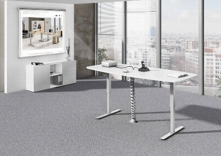 Hammerbacher XMST22 Konferenztisch elektr. höhenverstellbar Tastschalter Ahorn