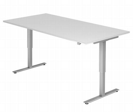 Hammerbacher Schreibtisch XMST19 TRAVERSEless Steh-/Sitzarbeitsplatz (BxT) 180x80cm 1-stufig höhenverstellbar 72-119cm Ahorn