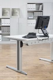 Hammerbacher Schreibtisch XS08 AKTIV (BxT) 80x80cm Ahorn
