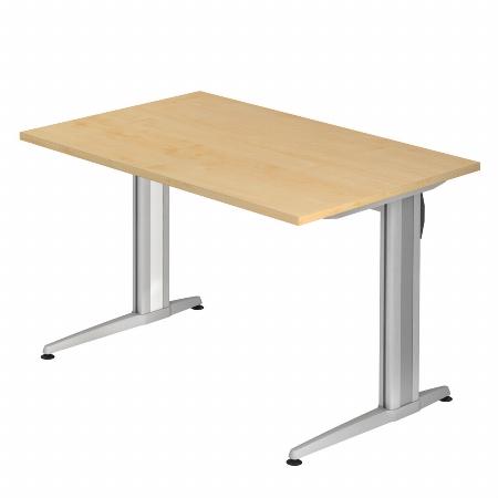 Hammerbacher Schreibtisch XS12 AKTIV Rechteckform (BxT) 120x80cm Ahorn
