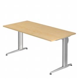 Hammerbacher Schreibtisch XS16 AKTIV Rechteckform (BxT) 160x80cm Ahorn