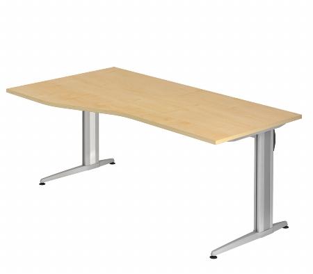 Hammerbacher Schreibtisch XS18 AKTIV Freiform (BxT) 180x100cm Ahorn