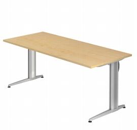 Hammerbacher Schreibtisch XS19 AKTIV Rechteckform (BxT) 180x80cm Ahorn