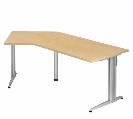 Hammerbacher Schreibtisch XS21 AKTIV Winkelform 135° (BxT) 210x113cm Ahorn