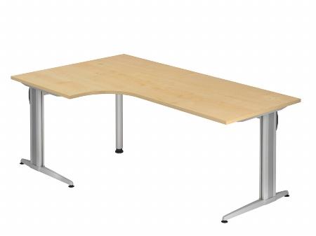 Hammerbacher Schreibtisch XS82 AKTIV Winkelform 90° (BxT) 200x120cm Ahorn
