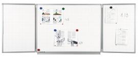 Legamaster 7-100354 Klapptafel Professional 90x120/240cm emaillierte Oberfläche
