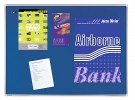 Legamaster 7-141554 Premium Textiltafel 90x120cm Blau