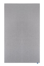 WALL-UP Akustik-Pinboard quiet grey, 119,5 x 200 cm