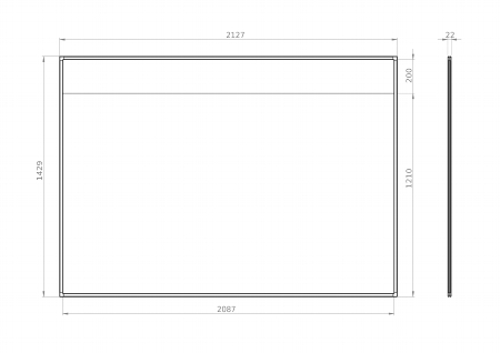 "Legamaster 7-190034 Projektionsboard FLEX 87"" für interaktive Projektoren"