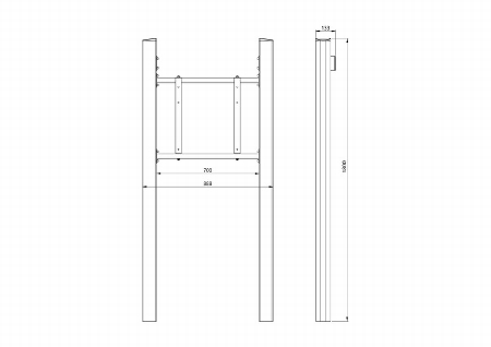 "Legamaster 7-194241 Pylonensystem fixe Höhe für e-Screen 46-84"""