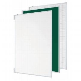 """Legamster 7-195313 Tafelflügel-Set für Projektionsboard 77"""" mit Whiteboard-Oberfläche Weiß/Weiß"""
