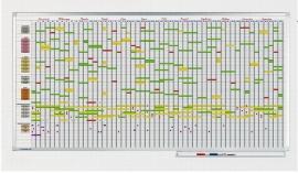 Legamaster 7-405000 Jahresplaner 7 Tage-Woche 75x150cm bis 75 Personen/Objekte