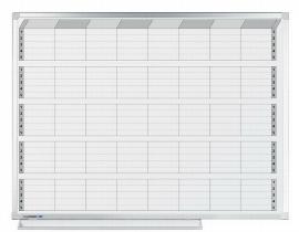 Legamaster 7-409000 Aktivitätenplaner PROFESSIONEL 90x120cm mit 8 senkrechten Spalten