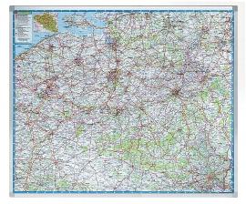 Legamaster 7-613100 Landkarte PROFESSIONAL Belgien Straßenkarte