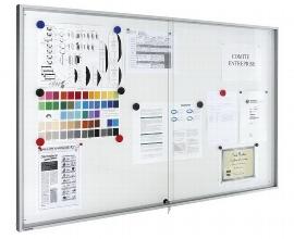 Legamaster 7-630942 Schaukasten PREMIUM Whiteboard (BxH)899x653mm mit Schiebetür