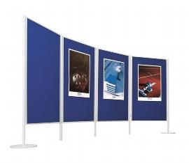 Legamaster 7-641554 doppelseitige Textiltafel Blau 90x120cm für Stellwandsystem Legaline PROFESSIONAL