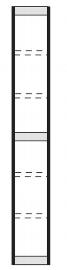 Kerkmann 2096 Regal Progress 2000 Endseite (TxH) 30 X 260cm Schwarz