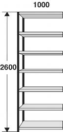 Kerkmann 2457 Magazin-Regal Stora 100 Regalfeld (TxBxH) 300X1000X2600mm Schwarz/Grau