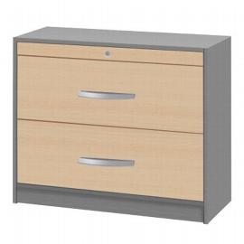 Kerkmann 3050 Hängeregistraturschrank tec-art (BxTxH) 100x42x82cm Buche/Silber