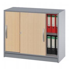 Kerkmann 3051 Schiebetürenschrank tec-art 2OH (BxTxH) 100x42x82cm Buche/Silber