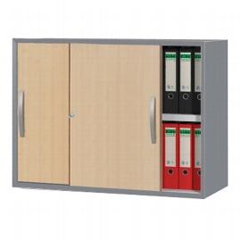 Kerkmann 3052 Schiebetüren-Aufsatzschrank tec-art 2OH (BxTxH) 100x42x74cm Buche/Silber