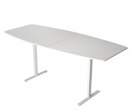 Kerkmann 3060 Konferenztisch MOVE 3 T-Fuß (BxTxH) 250x100x72-120cm elektr. Höhenverstellung Weiß