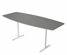 Kerkmann 3061 Konferenztisch MOVE 3 T-Fuß (BxTxH) 250x100x72-120cm elektr. Höhenverstellung Grafit