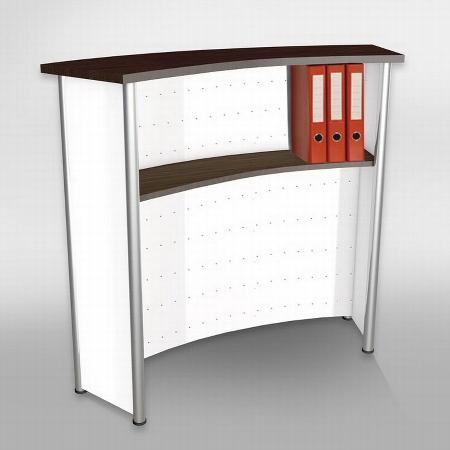 Kerkmann 3415 Empfangstheke Counter Florenz (BxTxH) 1180x500x1150mm Weiß/Silber