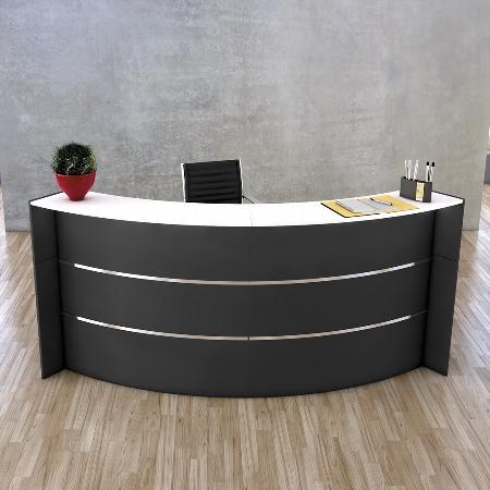 Kerkmann 3552 Bogentheke BARI (BxTxH)257,4x122,5x112cm Anthrazit