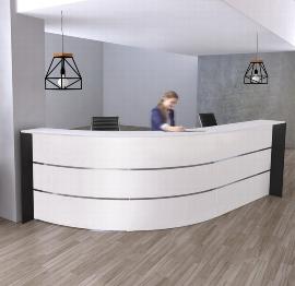 Kerkmann 3565 Bogentheke BARI für 1-2 Personen 334x182.5x112cm Weiß.