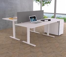 Kerkmann MOVE 1 Steh-/Sitz Schreibtisch 3602  T-Fuß (BxTxH) 160x80x72-120 elektr. Höhenverstellbar Ahorn