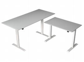 Kerkmann 3641 Sitz-/Stehtisch MOVE 1 T-Fuß 180x80x72-120 - Beitisch 100x60 elektr. Höhenverstellbar Lichtgrau
