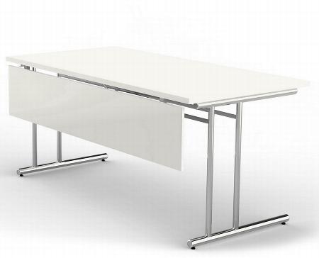 Kerkmann 3719 Knieraumblende für Schreibtische mit Tischbreite 160+180cm - Weiß